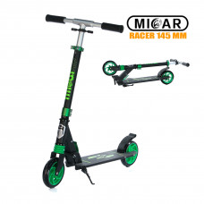 Самокат Micar Racer 145 мм Чёрно-зелёный