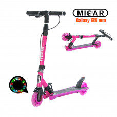 Самокат Micar Galaxy 125 мм Розовый