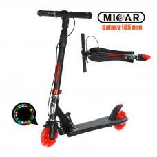 Самокат Micar Galaxy 125 мм Чёрно-красный