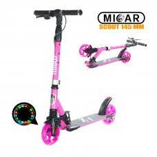 Самокат Micar Scout 145 мм Розовый