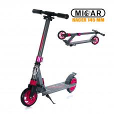 Самокат Micar Racer 145 мм Серо-розовый