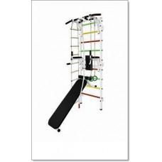 Шведская стенка с турником, брусьями, скамьей, канатом, лестницей и кольцами MUROMS-Z29 Белая